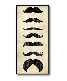 Take a look at this Seven Mustache Styles Canvas Wall Art by COURTSIDE MARKET on #zulily today!