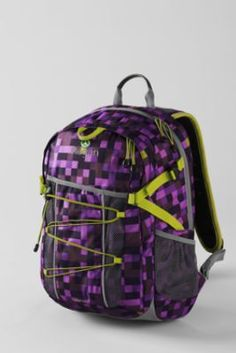Girls' Pixel Explosion FeatherLight™ Medium Backpack from Lands' End