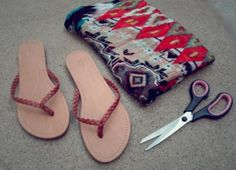 How To Make Colorful DIY Summer Sandals | Shelterness