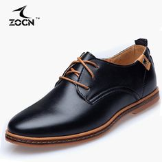 Black PU Leather Shoes  Oxford  ZOGN Brand //Price: $33.54 & FREE Shipping //     #hashtag1