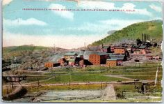 """1910 Cripple Creek District CO Mining Postcard """"INDEPENDENCE MINES, GOLDFIELD"""""""