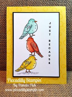 Piccadilly Stampin': Color Me Happy!!!