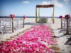 i want bright or white flower petals sprinked down the aisle prior to Kaly (flowergirl) walking down the aisle