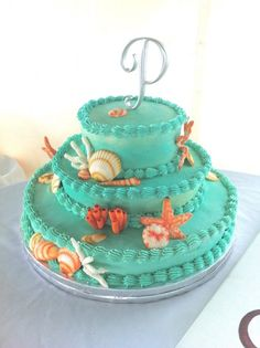 wedding cake for a seaside affair.via:weddingomania   walkingonsunshine:)