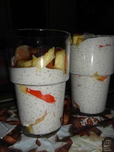 Kokosový pudink z tapiokových perel