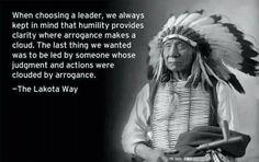 The Lakota Way - sounds like we need this today.