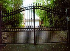 Modern Vintage Wrought Iron Gates In Front Driveways Design For ...