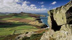 Coastal view towards Carn Llidi on St David's Head, from Pen Beri rock © National Trust Images / Joe Cornish