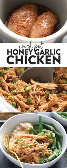 Healthy Crock Pots 42357 Our Crock Pot Honey Garlic Chicken is perfect for any weeknight meal, is kid-friendly, and made with only 5 ingredients! Make your grocery list, head to the store, and cook up this amazing slow cooker honey garlic chicken. Crockpot Chicken Healthy, Healthy Slow Cooker, Slow Cooker Recipes, Cooking Recipes, Honey Garlic Chicken Crockpot, Chicken Recipes For Crock Pot, Crockpot Ideas, Crockpot Shredded Chicken, Healthy Crockpot Dinners