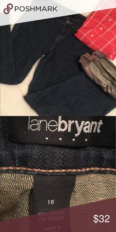 Dark wash jeans Dark wash jeans. Like new. I have lost some weight.  Clearing out some clothes for some new. Excellent condition. Non-smoking home. Lane Bryant Jeans Straight Leg