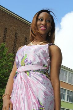 Fabric Express Pink Sleeveless Iro and Buba on Etsy, £40.00