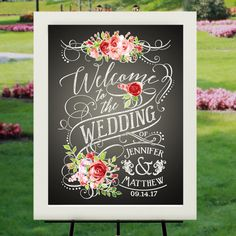 Welcome Wedding Poster  18x24 Vintage Label by RockinChalk on Etsy