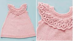 Strik den fine spencer til den lille prinsesse - perfekt til forår og sommer. Få opskriften på spenceren her Baby Knitting Patterns, Knitting For Kids, Diy Crafts Knitting, Baby Barn, Baby Sweaters, Baby & Toddler Clothing, Little Girl Dresses, Trendy Baby, Baby Dress