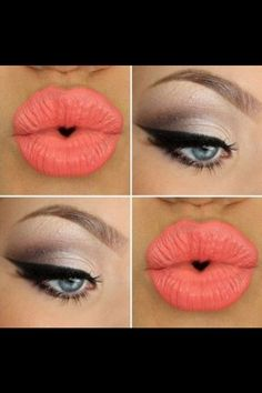 Pin up makeup..love the lips