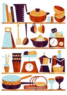 'Kitchen' by kata on artflakes.com