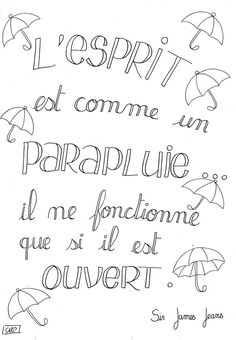 parapluie Positive Mind, Positive Attitude, Mantra, Burn Out, Quote Citation, Just Dream, French Quotes, Positive Inspiration, More Than Words