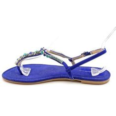 57bf8e6fc5e18 I. Gali Flat Sandals - Dark Indigo ( 23) ❤ liked on Polyvore featuring  shoes