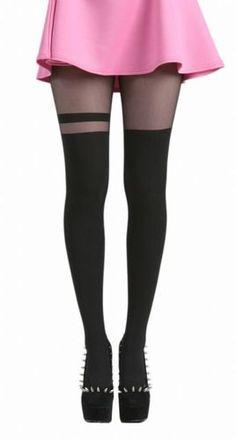 Pamela Mann Sheer Stripe Overknee Tights Stocking Tights Stockings Tights | eBay