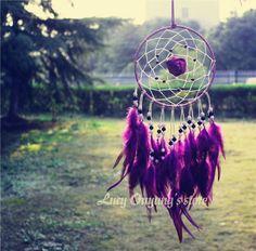 Purple Dream Catcher with Rose