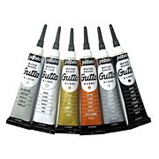 Pebeo Water-Based Guttas in Tubes - Clear and Colors