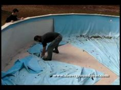 Part one- Super simple above ground pool liner replacement from the pros at http://www.abovegroundpros.com/