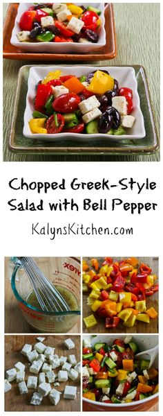 Chopped Greek Style Salad with Bell Pepper is perfect for later summer, when peppers are abundant and inexpensive.