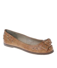 Take a look at this Camel Amy Ballet Flat by Passions Footwear on #zulily today!