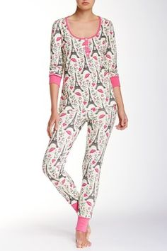 Pink Hello Kitty Eiffel Tower PJ Set