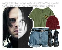 """Imagine Bucky Being Really Nice When You Two Are Alone, But When You're Not He's Totally Different"" by fandomimagineshere ❤ liked on Polyvore featuring Oakley, Retrò, Dr. Martens and living room"