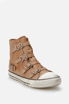 Ash Buckle Leather Hi Top Sneaker Online Only $185