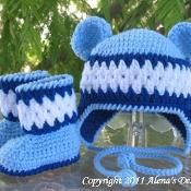 Bear Hat  Set_Blue - via @Craftsy