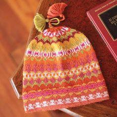 100% alpaca hat, 'Sunny Winter' - Pure Alpaca Wool Patterned Hat from Peru