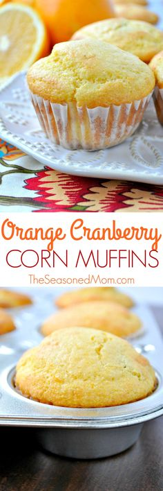 Orange Cranberry Corn Muffins are an easy make-ahead side for Thanksgiving or Christmas…and they come together in about 10 minutes (thanks to help from a boxed mix)!