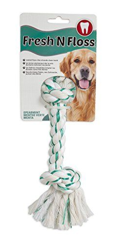 AspenBooda Corporation DBX52302 Fresh and Floss 2Knot Spearmint Toy for Pets Medium >>> Click image for more details.