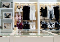 lingerie storage in Hong Kong store Avec Amore, owned by Tara the store in a cute little Parisian-influenced boutique is filled with tasteful lingerie.