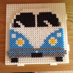 épinglé par ❃❀CM❁✿VW Campervan hama beads by Hama Beads Design, Diy Perler Beads, Perler Bead Art, Pearler Beads, Melty Bead Patterns, Pearler Bead Patterns, Perler Patterns, Beading Patterns, Plastic Fou