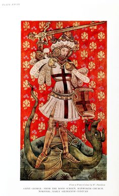 Medieval - Textile - St. George and the dragon.jpg (1314×2166)