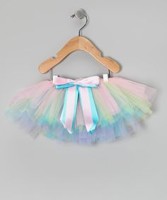 Love this Pastel Rainbow Tutu - Toddler by Miss Fancy Pants on #zulily! #zulilyfinds