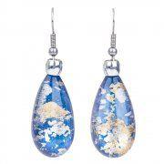 pear drop earrings (gold/blue)