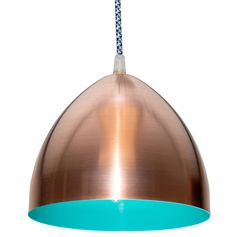 Copper headlamp pendant with aqua pixel cable - but would it be cold blue light?