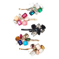 I love these crystal bobby pin clips. Add a bit of sparkle to your hair! Also great stocking stuffers!