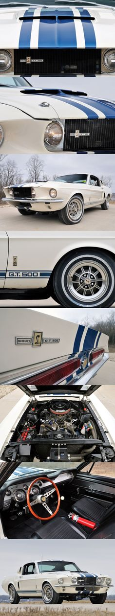 1967 Shelby G.T.500 Super Snake / 427 cu.i. 7.0l V8 / 1.3 mio US$ / USA / white blue / Ford Mustang / 1 produced