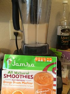 This is my @Jamba At Home Smoothie/ #JambaJuice of Orange Dream Machine sent complimentary from Influenster's Surf's Up VoxBox!