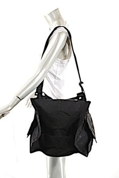 dfdc8248b389 Issey Miyake Very interesting black polyester Pleated bag from Issey Miyake  - removable shoulder strap as