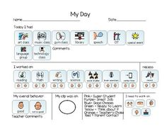 Daily Behavior Communication by Rachelle Hughes | TpT Student Behavior, Classroom Behavior, Behavior Interventions, Asd, Communication, Tools, Projects, Kids, Log Projects