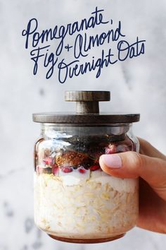 Fig season is here! Use them while you can in this simple and easy overnight oats recipe. All you'll need is 2 cups Quaker®  Old Fashioned Oats, 2 cup fresh pomegranate seeds, 2 cup of diced fresh figs, 2 cup plain greek yogurt, 3 cup skim milk, 4 teaspoons of chia seed, 4 tablespoon of honey and 3 teaspoons almond extract. Mix all ingredients together and let them soak in the refrigerator overnight. In the morning, you'll have enough overnight oats to serve the whole family!