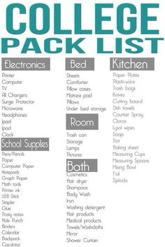 College packing list by annette College Packing Lists, College Planning, College Hacks, College Life, Dorm Life, College Ready, College School, College Students, Dorm Hacks