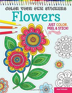 Color Your Own Stickers Flowers Just Color Peel  Stick *** Check out this great product.Note:It is affiliate link to Amazon.