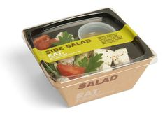 Ideas For Fruit Box Packaging Food Sandwich Packaging, Salad Packaging, Food Packaging Design, Brand Packaging, Box Packaging, Takeaway Packaging, Salad Design, Food Design, Salad Box