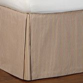 Found it at Wayfair - Eastern Accents Heirloom Ticking Stripe Pleated Bed Skirt